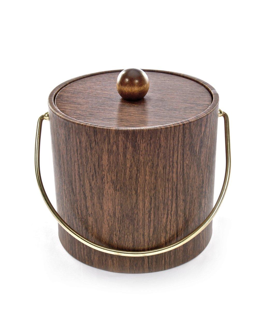 Mr. Ice Bucket 951-1 Walnut Woodgrain Ice Bucket, 3-Quart