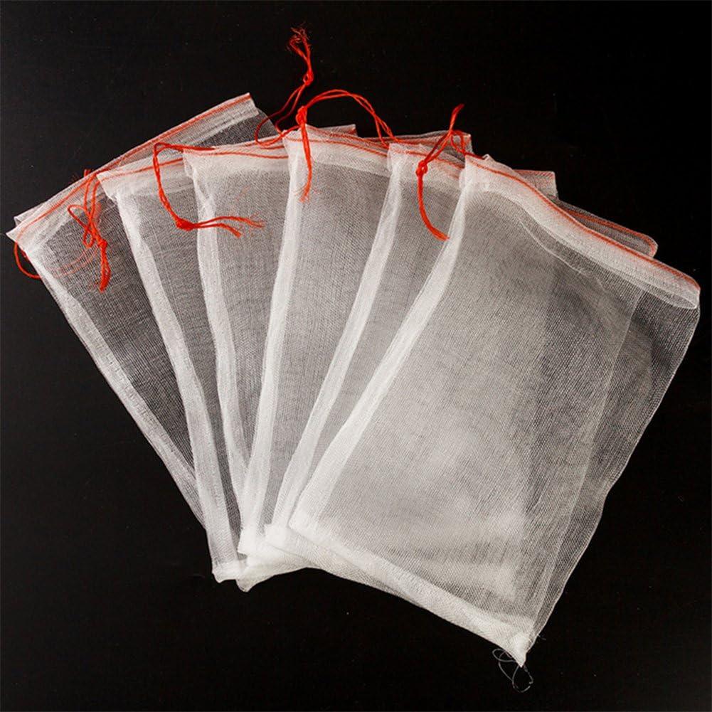 5//1PCS Garden Plant Fruit Protect Drawstring Net Bag Against Insect Pest Bird