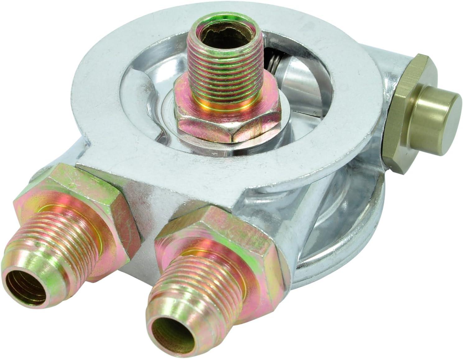 Filtre /à huile Sandwich Plaque Adaptateur AN8/3//4 16/avec thermostat pour externe dhuile