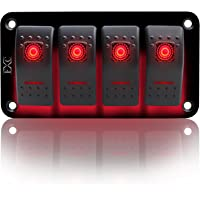 Rocker switch 520R 12V DRIVING LIGHT 20A Dual Led red SPST ON//OFF
