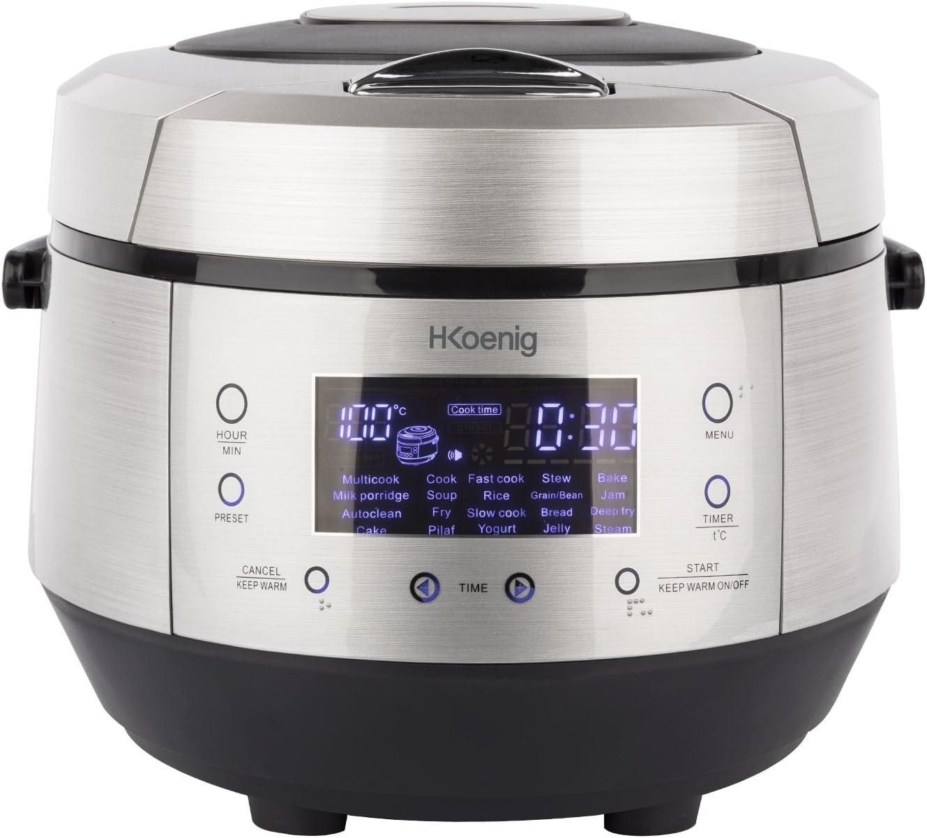 H.Koenig MLCOOK10 Robot de Cocina, 860 W, 5 litros, Plateado y ...