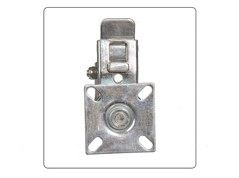 4 St/ück Lenkrolle TPR 50 mm Feststellbremse je 35kg Tragkraft