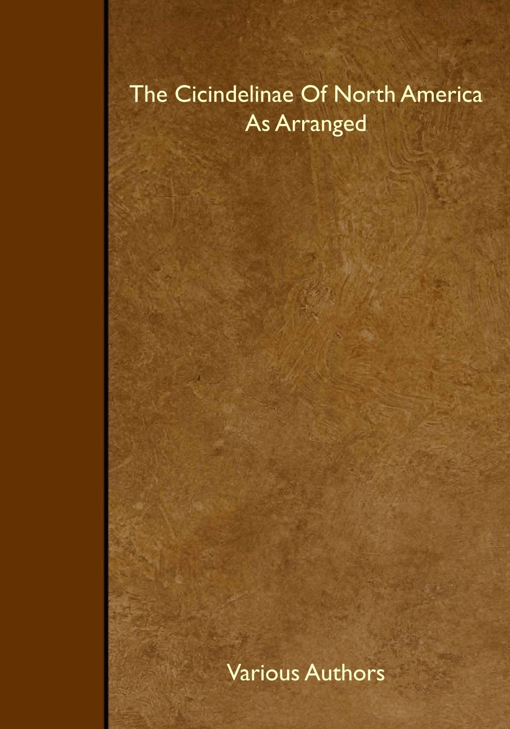 Read Online The Cicindelinae Of North America As Arranged pdf