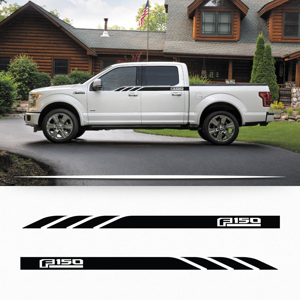 Ford F150 2014-2016 side door panel stripe decal door graphics with F150 logo My Cars Look