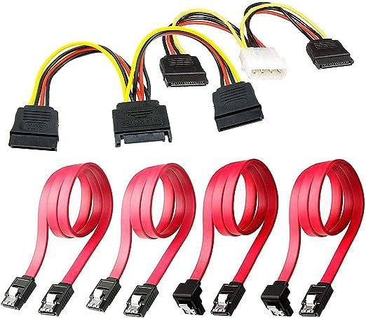 Ogquaton Cables de conexión del Disco Duro SSD/SATA III 1x 4 Pines ...