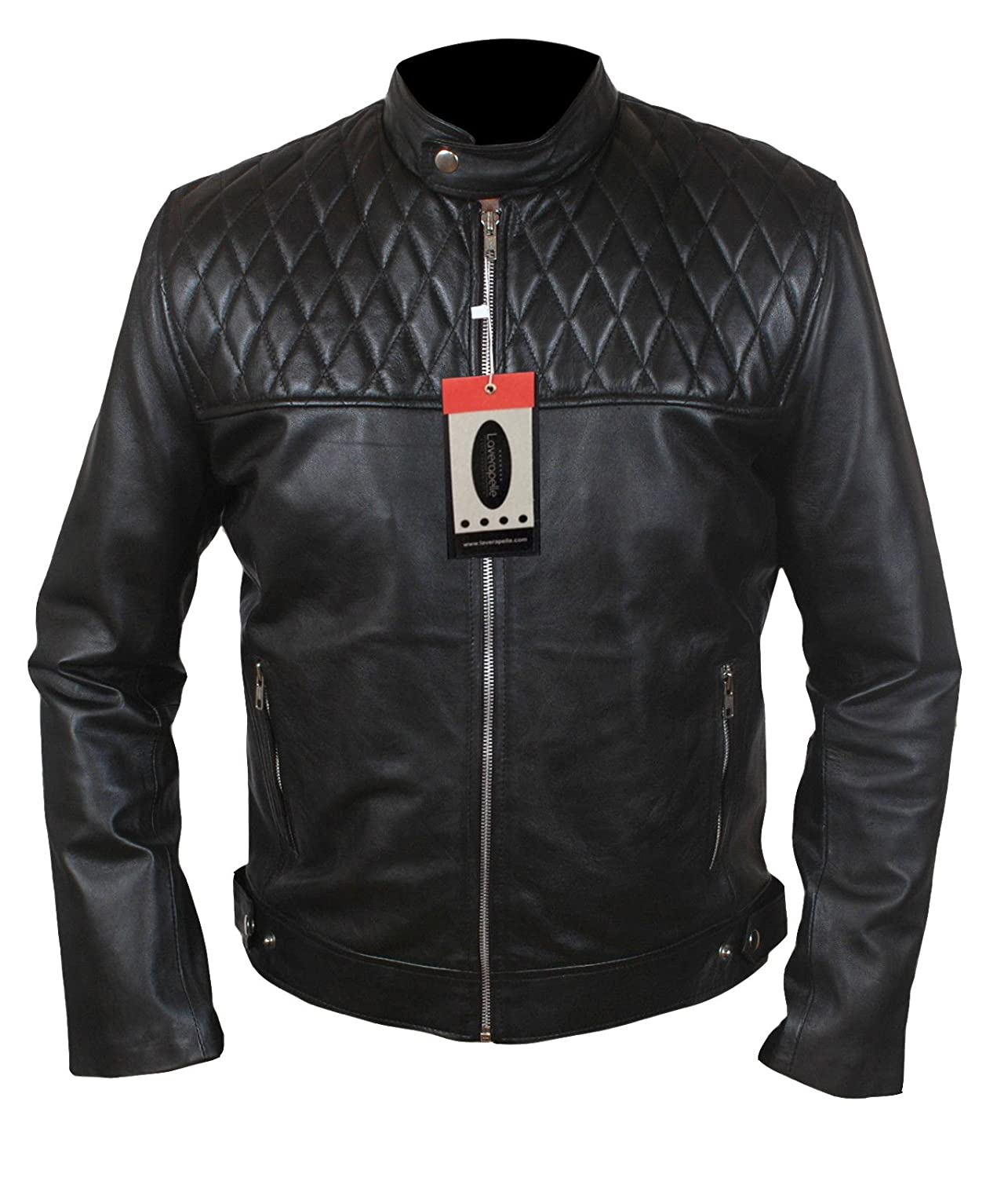 Laverapelle Men's Quilted Top Genuine Real Sheep Leather Fashion Jacket - 1510788