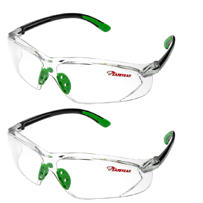 Safeyear - Gafas de seguridad antiarañazos,SG003*2 antivaho con protección UV para hombres y mujeres, gafas protectoras antivapor Z87 para trabajos de bricolaje