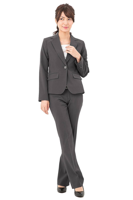 [アッドルージュ] スーツ レディース パンツスーツ ジャケット セット 洗える 抗菌 消臭 UVカット 【j5038】 B01MZCQ4M0 21号ABR|グレー グレー 21号ABR