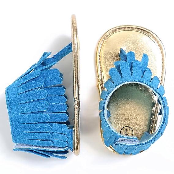 Zapatos Bebé niña primeros pasos ❤ Amlaiworld Sandalias de verano niña Bebés Zapatos de cuna para niña pequeña recién nacidos Zapatillas con suela blanda ...