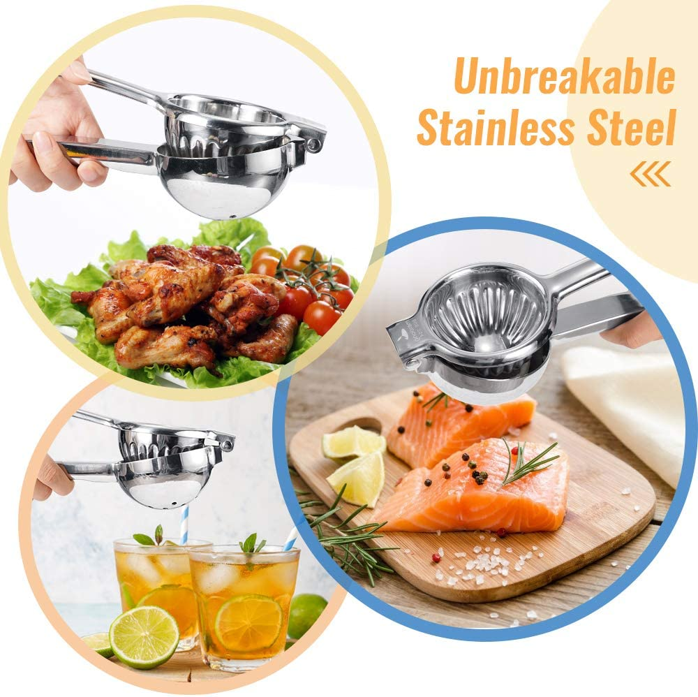 Lemon Squeezer Super High Quality Stainless Steel 304 Hand Press Juicer Manual Citrus for Juicing Lemon & Limes, Vegetables 2.3Inch Middle: Kitchen & Dining