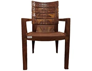 VARMORA Chess Chair (Set of 4)(WALLNUT Color)