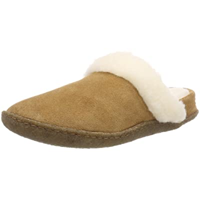 Sorel Womens Nakiska Slide II Camel Brown Natural Slipper - 8 | Slippers