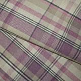 Higgs & Higgs - Skye Heather Wool Touch - Beige Pink Lilac 2701 - Tartan Check Fabric Curtaining Curtain Cushions Blinds