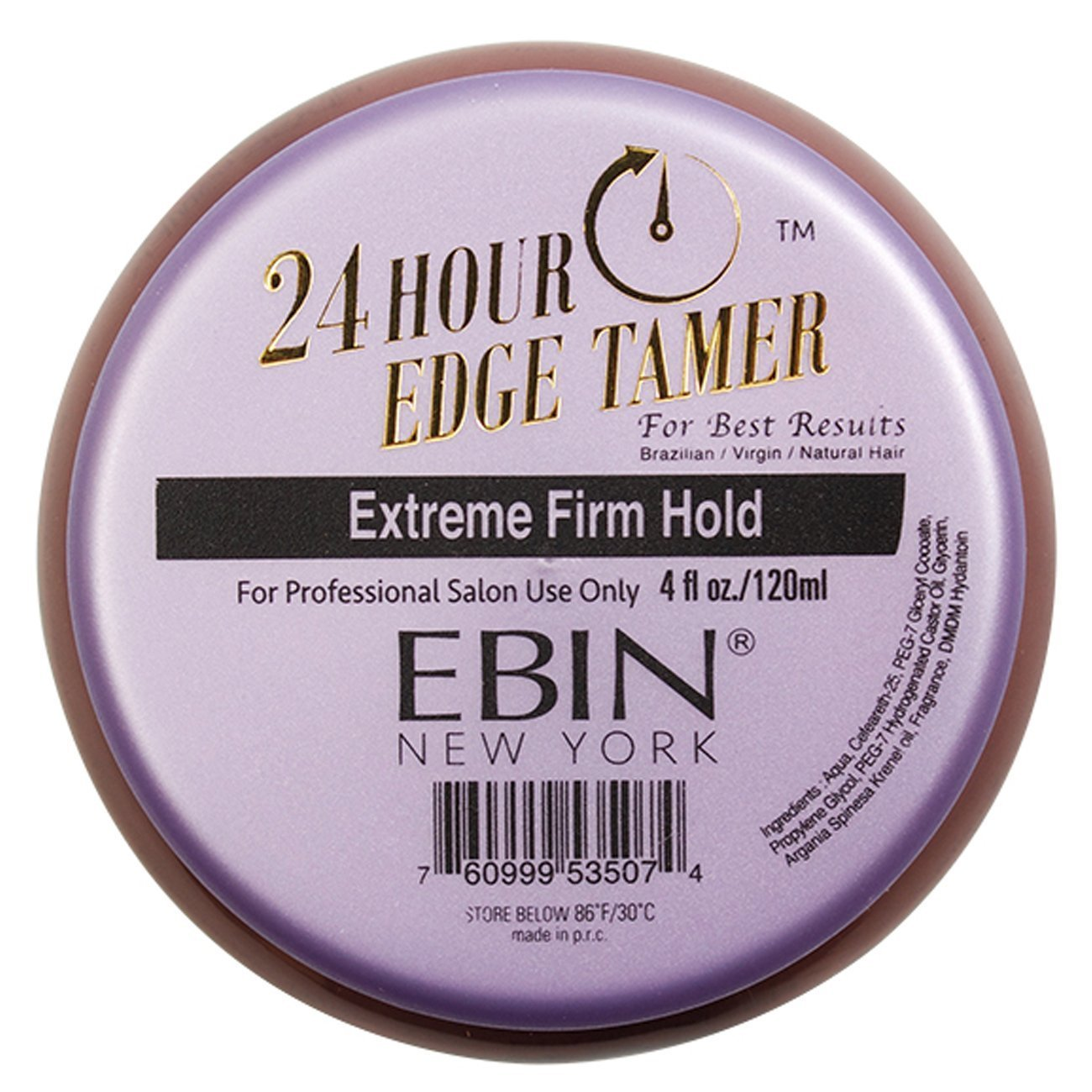 Ebin New York 24 Hour Edge Tamer (24Hr EXTREME FIRM HOLD 4oz)