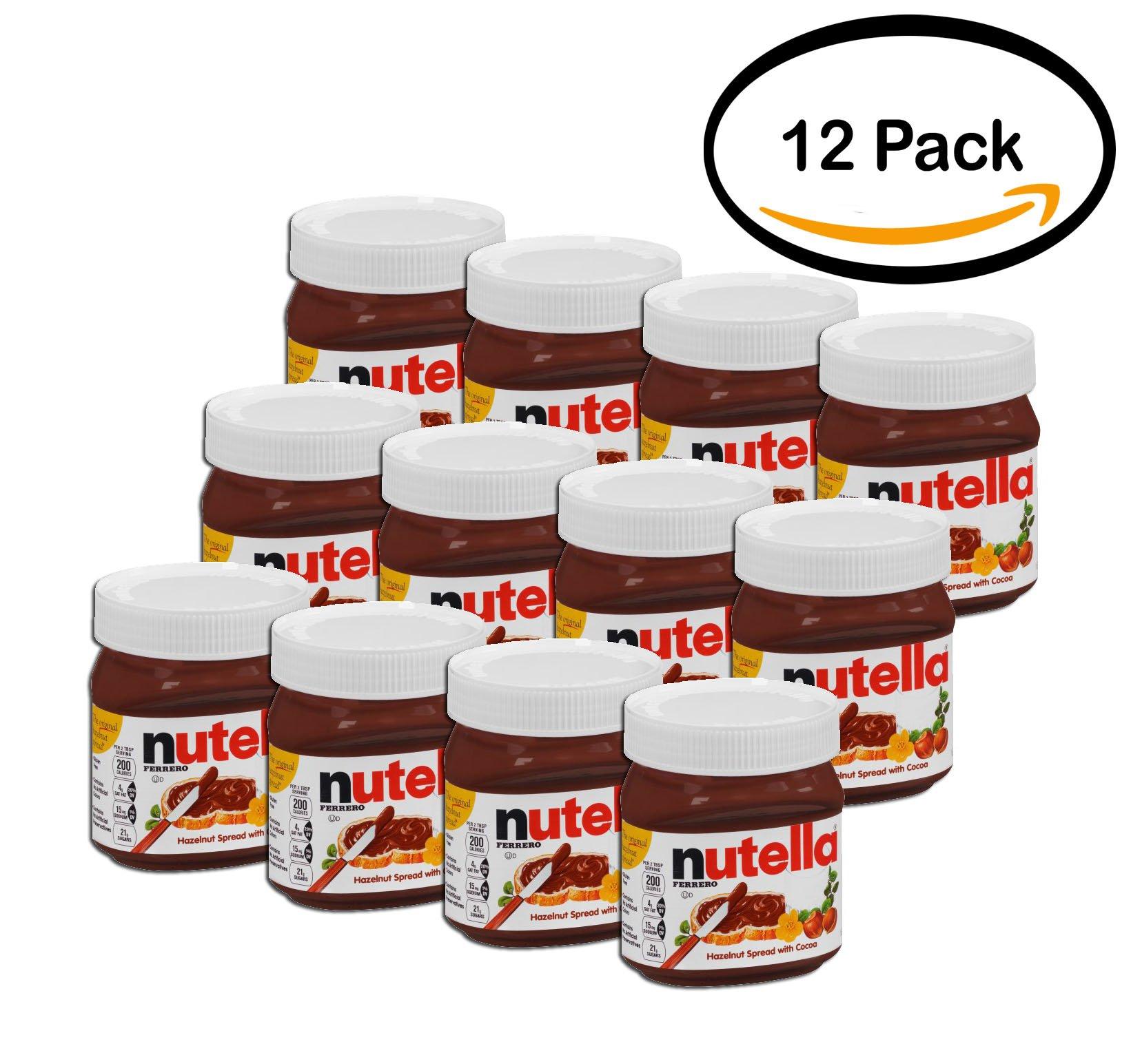 PACK OF 12 - Nutella Hazelnut Spread 13 oz. Jar by Nutella