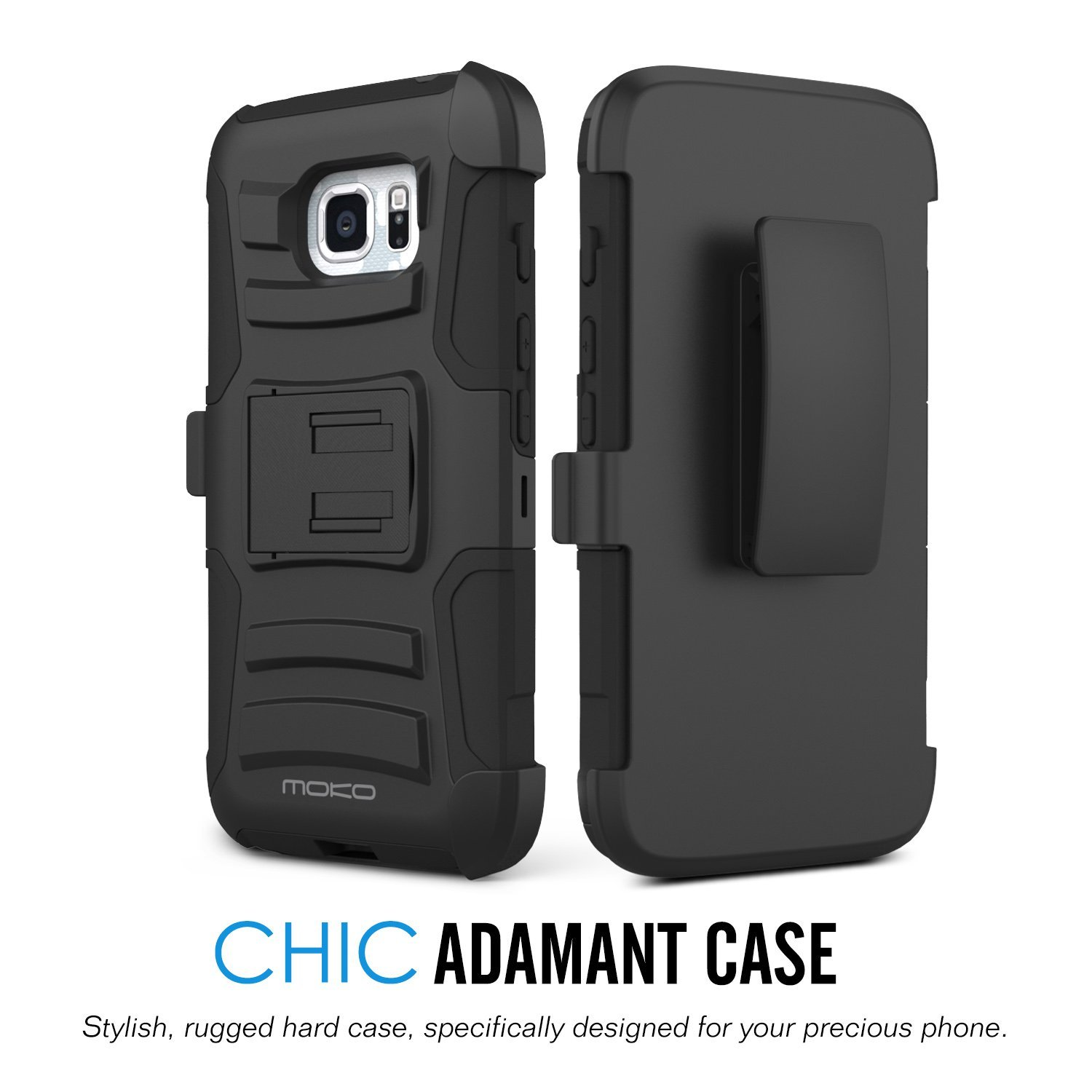 online store de547 5cbcc Galaxy S7 Active Case, MoKo Shock Absorbing Hard Cover Ultra Protective  Heavy Duty Case with Holster Belt Clip + Built-in Kickstand for Samsung  Galaxy ...