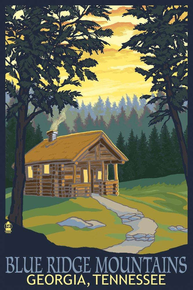 最安値 Blue Ridge 24 Blue Mountains – Cabin in Woods Canvas Tote Signed Bag LANT-33519-TT B07B2CRQD4 16 x 24 Signed Art Print 16 x 24 Signed Art Print, ヤマト広場:1a6e798a --- arianechie.dominiotemporario.com