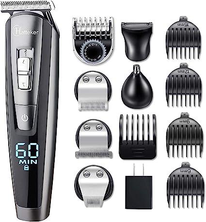 Kit de recorte de barba para hombres kit de recorte de bigote sin cables kit de recorte de pelo s...