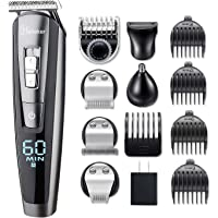 Hatteker Hair Clipper Beard Trimmer Kit for Men Cordless Hair Mustache Trimmer Hair Cutting Groomer Kit Precision…