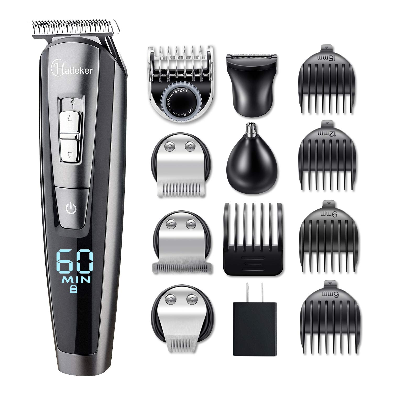 Cordless Men's Beard Trimmer Kit, 5 In 1 Waterproof Hair Trimmer & Groomer Kit