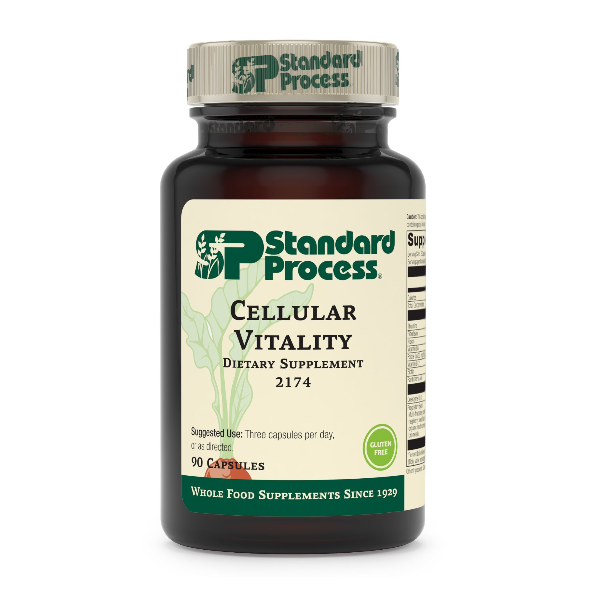Standard Process - Cellular Vitality - Vitamin B1, B2, B6, Folate, B12, Biotin, CoQ10, Supports Healthy Cellular Processes and Provides Antioxidant Activity, Gluten Free and Vegetarian - 90 Capsules by Standard Process (Image #2)