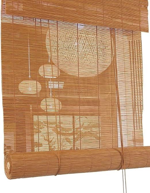 ZXL Estor de bambú, persiana enrollable, luz exterior, persiana enrollable, persiana para porche, patio, pérgola, balcón, patio trasero, Bambú, 100cm×180cm: Amazon.es: Hogar