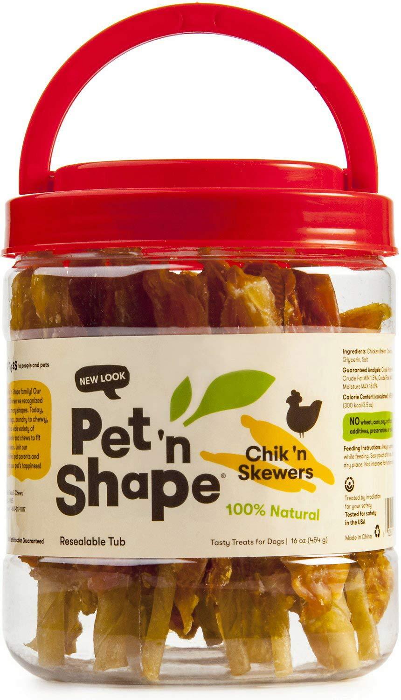 Pet n Shape Chicken Dog Treats, Chik n Skewers, 16 Ounce, 12 Pack