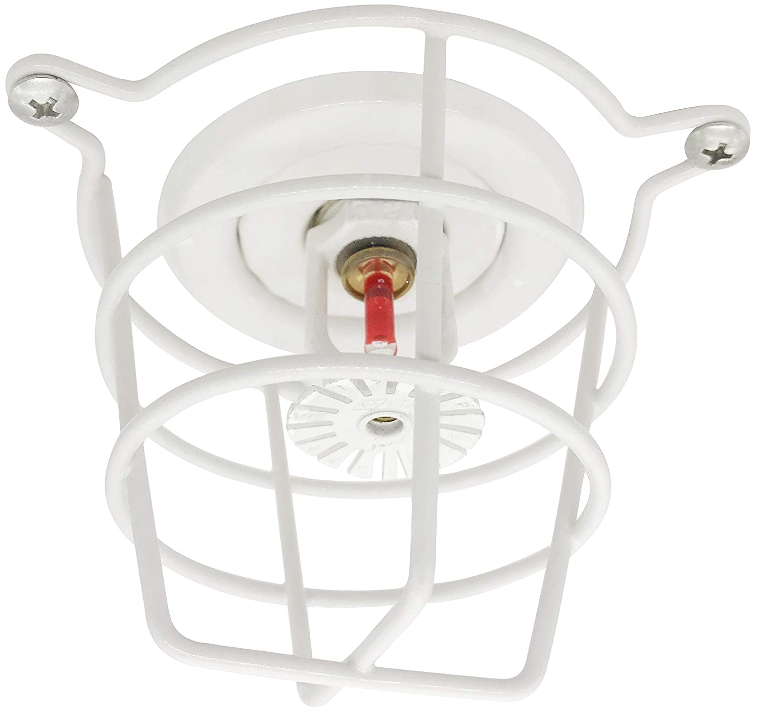 TunaMax White Fire Sprinkler Head Guard for Both 1//2 /& 3//4 Sprinkler Head for Protecting Flush Mount /& Side Wall /& Semi Recessed Sprinkler Head Cover 2 Pack Mounting Hardwares Included
