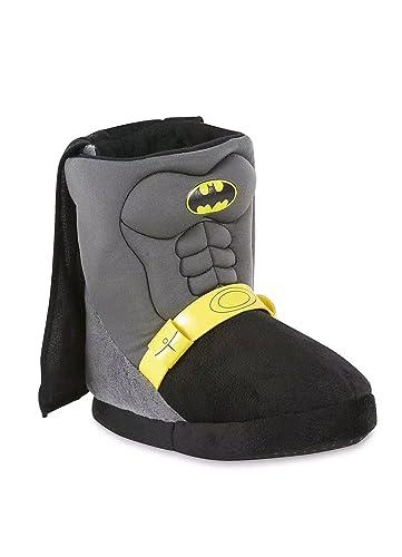 bd8decd752d3c1 Batman Toddler Boys Caped Slipper (Large 9 10)