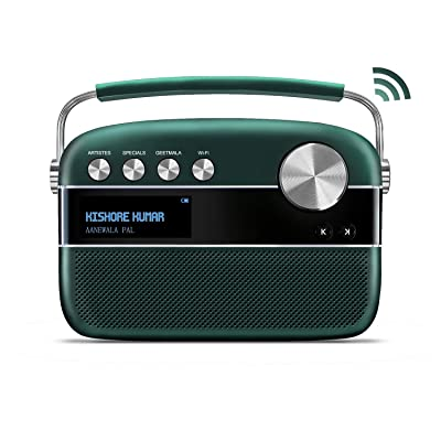 Saregama Carvaan 2.0 Portable Digital Music Player (with 20,000 Songs) (with WiFi, Green): Home Audio & Theater