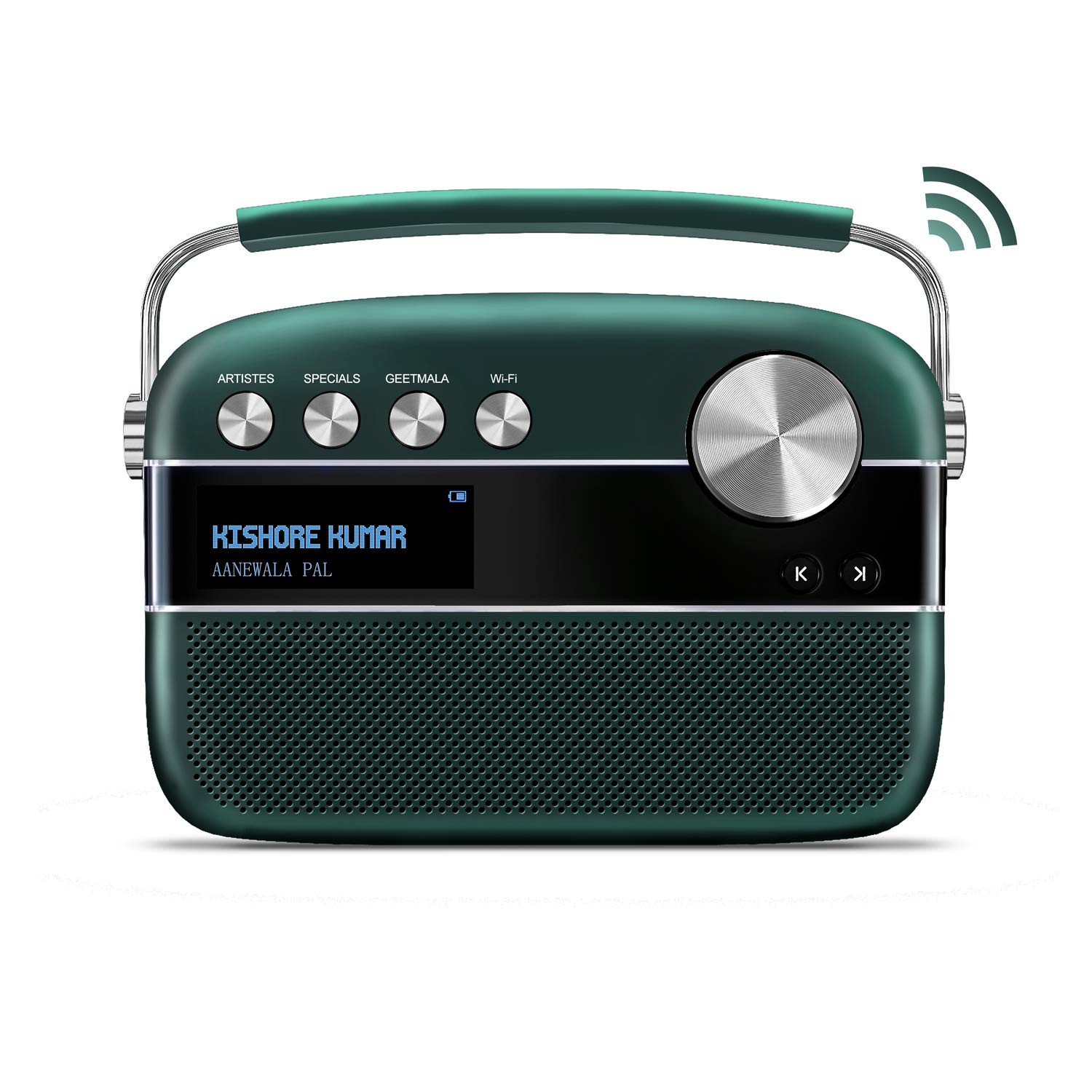 Saregama Carvaan 2.0 Portable Digital Music Player (with 20,000 Songs) (with WiFi, Green) by Saregama