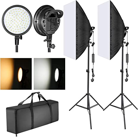 Neewer Kit de iluminación para caja de luz de estudio fotográfico: Amazon.es: Electrónica