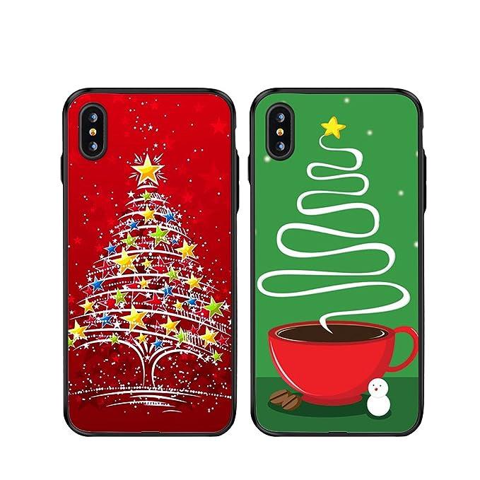 Amazon.com: iPhone X Par casos de Navidad, ttott 2 x Regalo ...