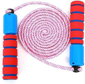 Jestool Cuerda para Saltar, Saltar Cuerda Ajustable Algodón Cable ...