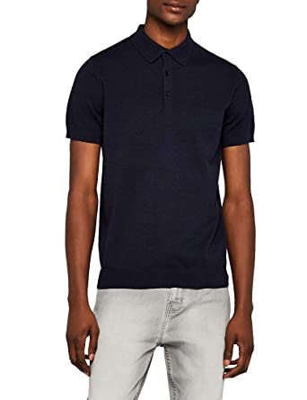 Marca Amazon - MERAKI Short-sleeve Knit Polo - suéter Hombre ...