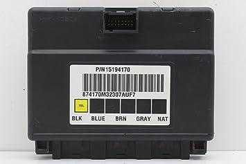 02-07 GMC Hummer H2 15194170 BCM BCU Body Control Module