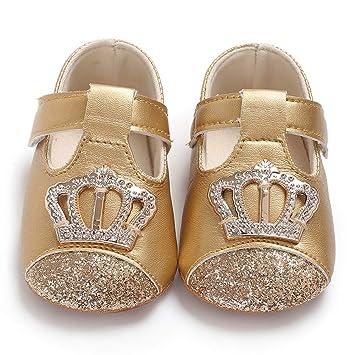 67443a6d66 Amazon.com : DHmart 0-18M Newborn Baby Girl Soft Sole Leather Cute ...