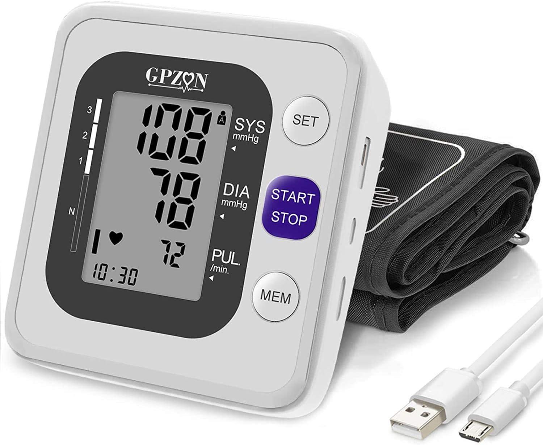 "Blood Pressure Monitor Upper Arm, Digital BP Monitor Cuff Irregular Heartbeat &Pulse Rate Monitoring Meter ,Cuff 8.7""-15.7"",2X120 Sets Memory"