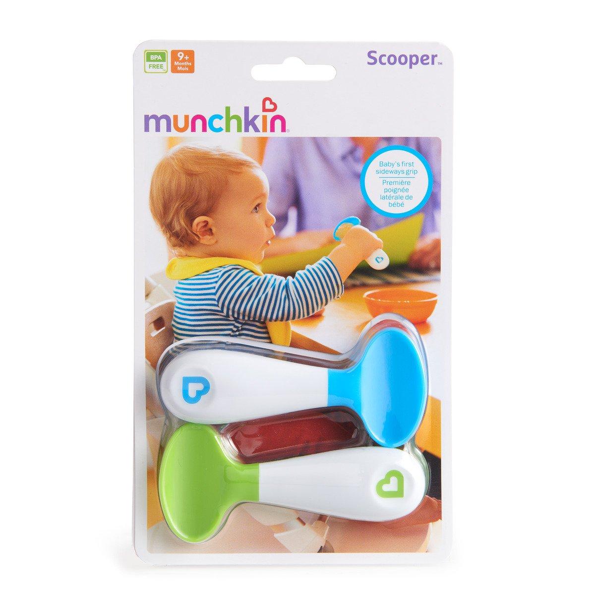 blau//gr/ün Munchkin Scooper Spoons Esslernl/öffel