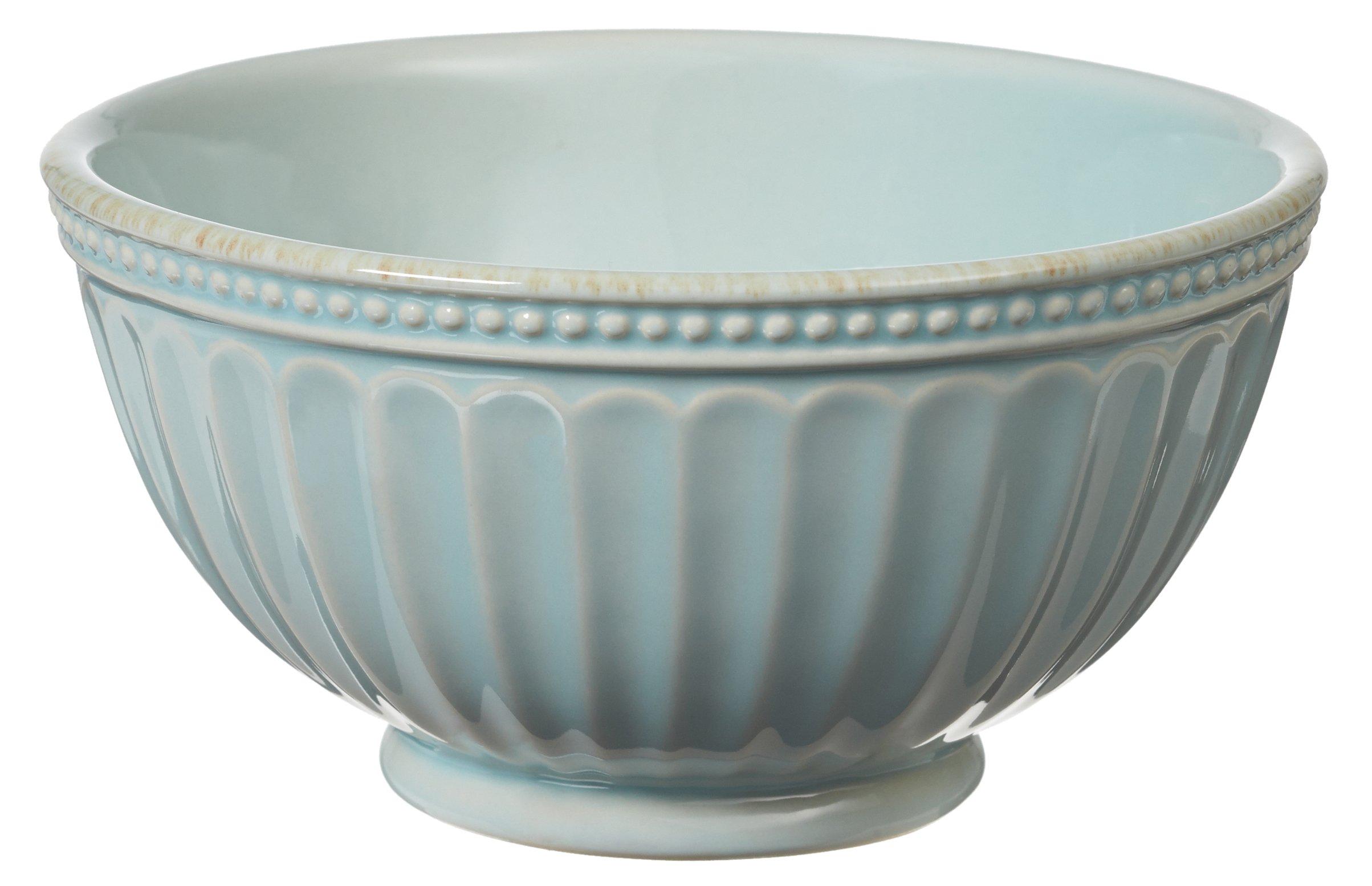 Lenox French Perle Everything Bowl, Ice Blue