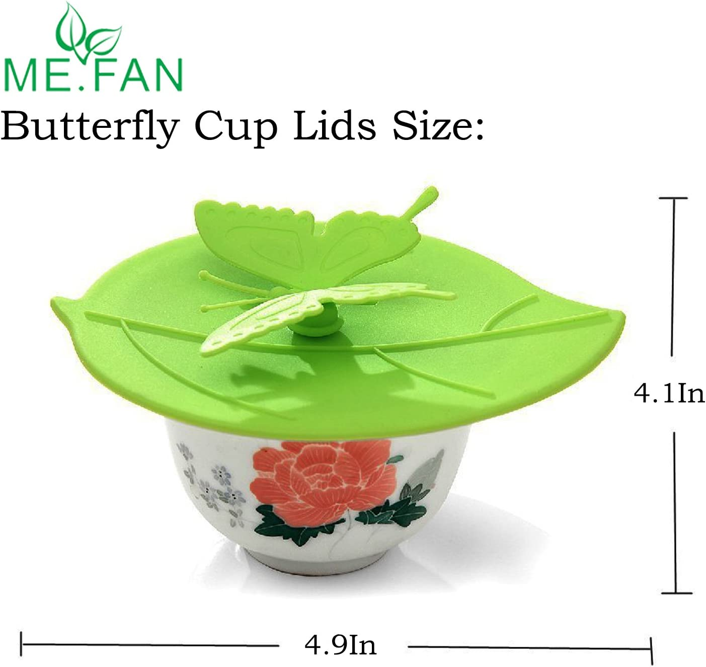 Silicone Cup Lids Anti-dust Cup Bowl Cover Diameter 10//10.5cm