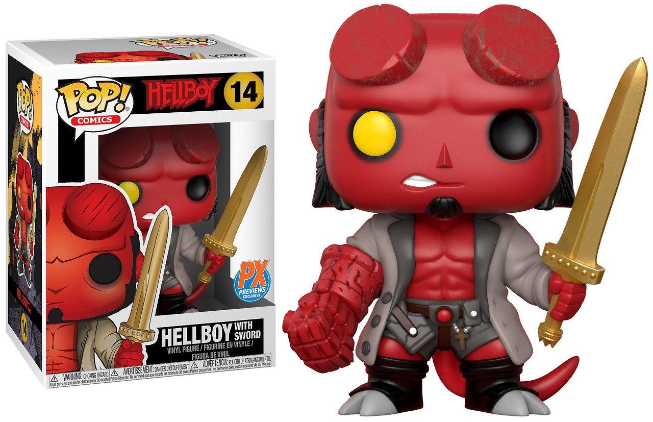 Funko Pop!  Hellboy with sword Escalibur