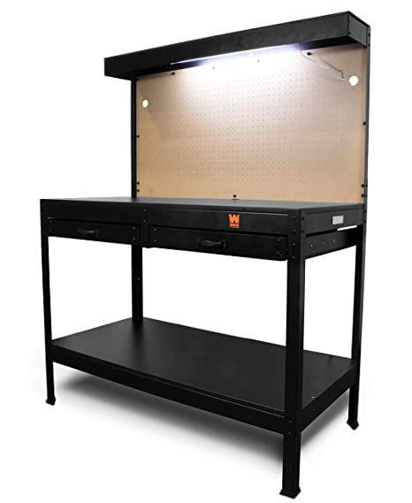 Prime Wen Wb4723 48 Inch Workbench With Power Outlets And Light Andrewgaddart Wooden Chair Designs For Living Room Andrewgaddartcom