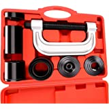 MIKKUPPA Heavy Duty Ball Joint Press 4WD & U Joint Removal Tool Kit with 4x4 Adapters, for Most 2WD and 4WD Cars and…