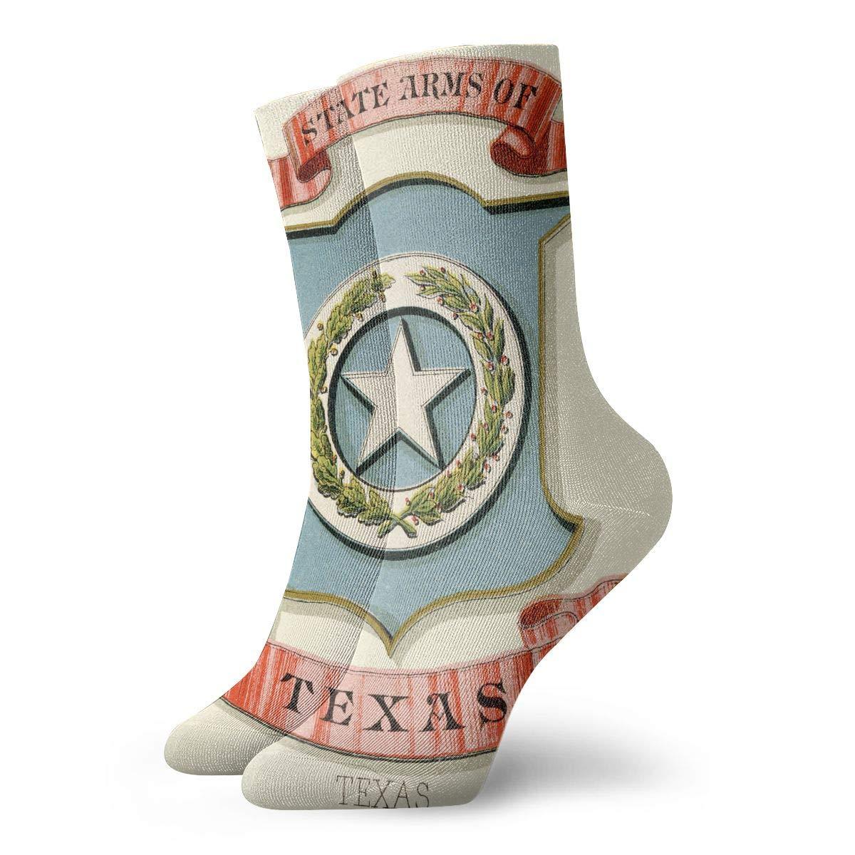 Texas State Coat Of Arms Fashion Dress Socks Short Socks Leisure Travel 11.8 Inch