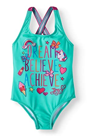 3f62a4296bb22 Amazon.com  JoJo Siwa Dream Believe Achieve Girls Bathing Suit  Clothing