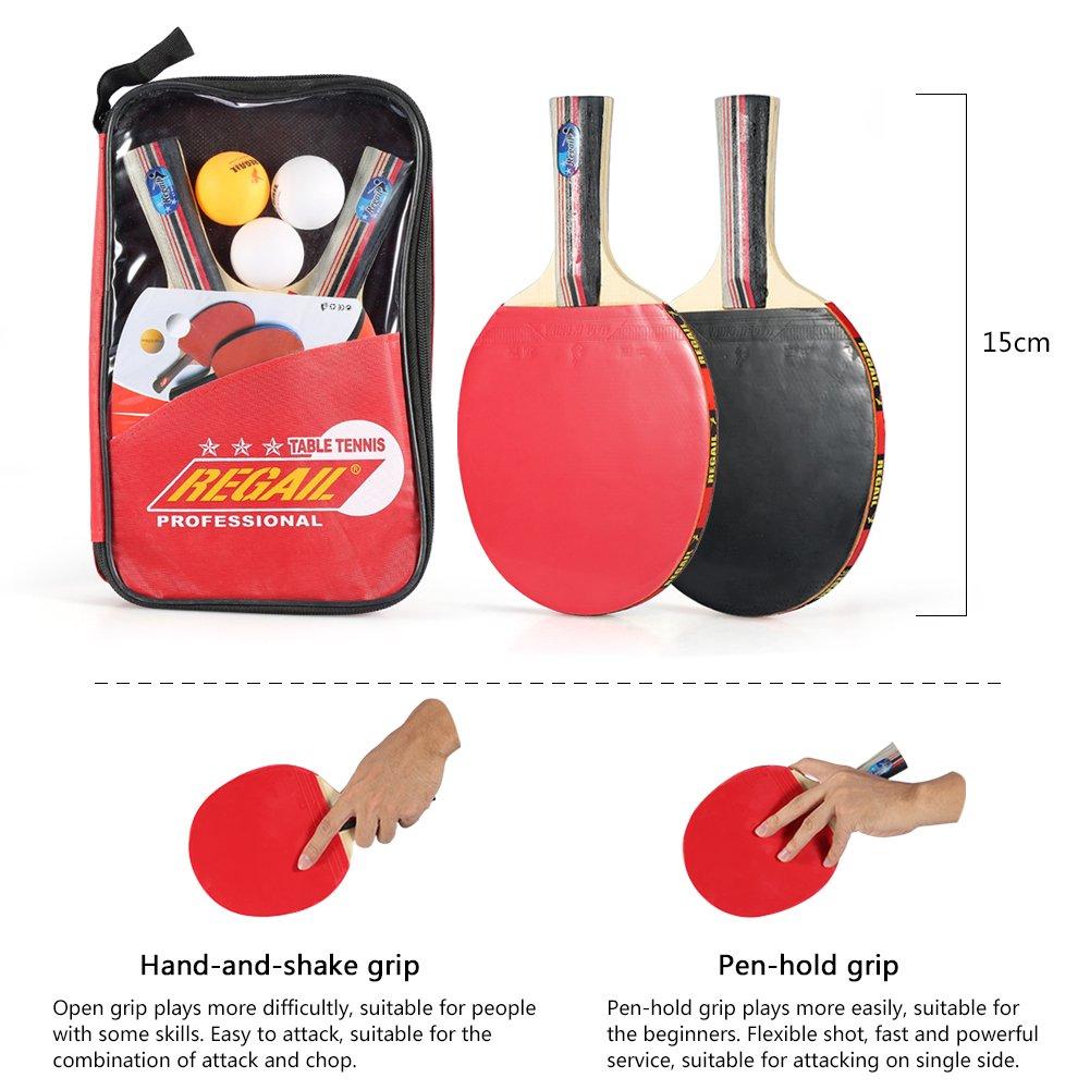 2pcs Racchetta A Vgeby Juego de ping pong