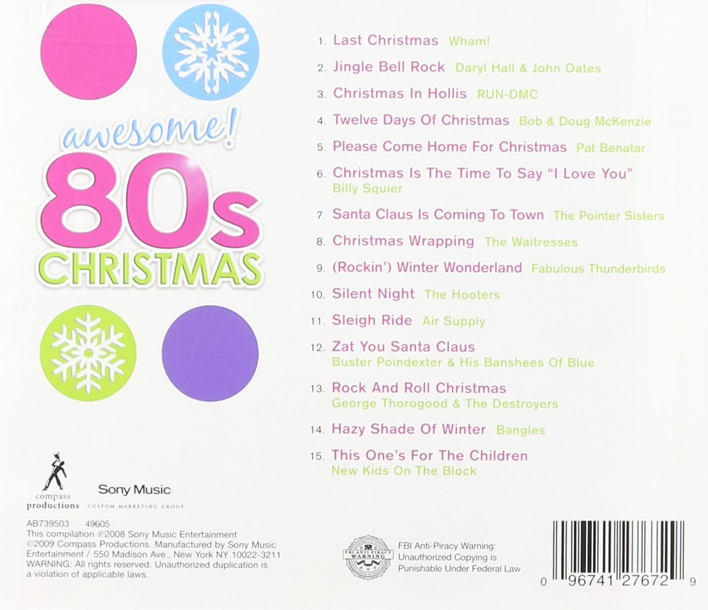 Awesome 80\'s Christmas - Awesome 80s Christmas - Amazon.com Music
