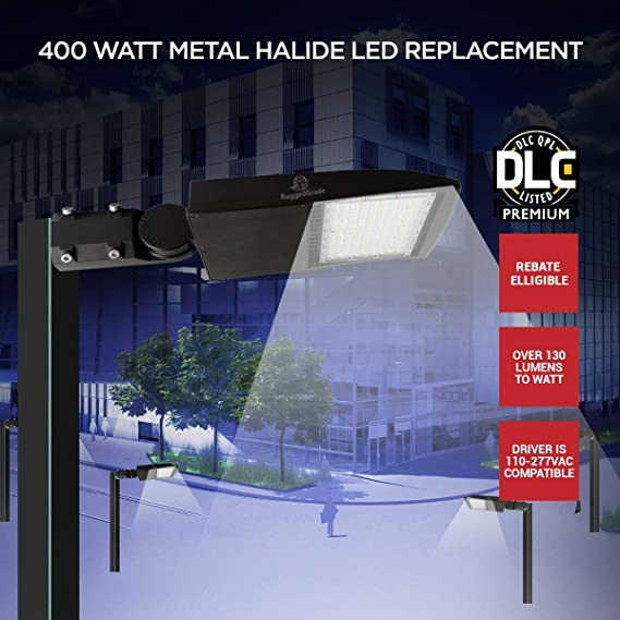 30,000 Lumen 170lm to watt 185 Watt LED NextGen XT Parking Lot Lights Slip Fit Mount 5000K with photocell