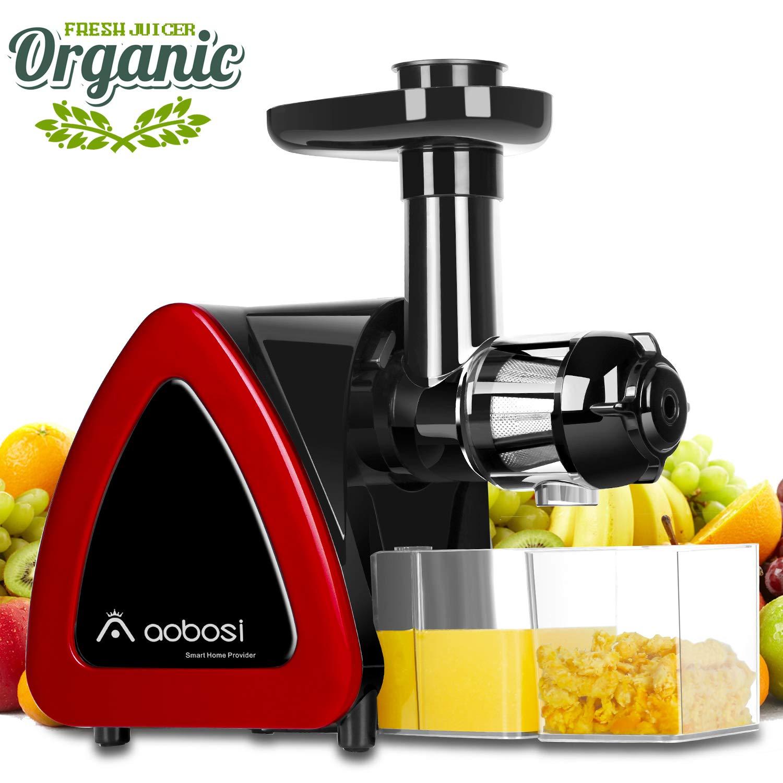 Licuadora Prensado en Frio,Aobosi Licuadora Frutas Verduras,Extractor de zumos con Función inversa